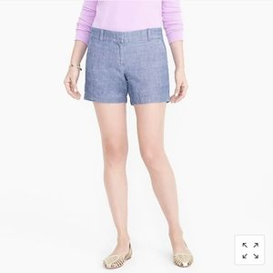 "J Crew 5"" Chambray short Sz 6"
